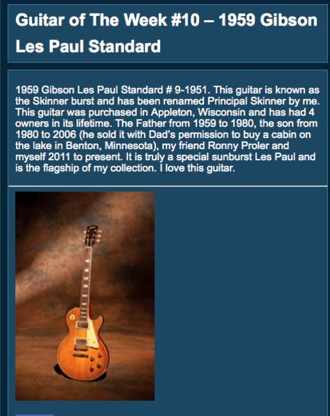 """Joe Bonamassa's Gibson Joe Bonamassa """"Skinnerburst"""" 1959 Les Paul"""