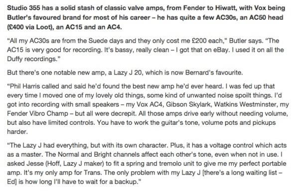 Bernard Butler's Vox AC15 Guitar Combo Amp