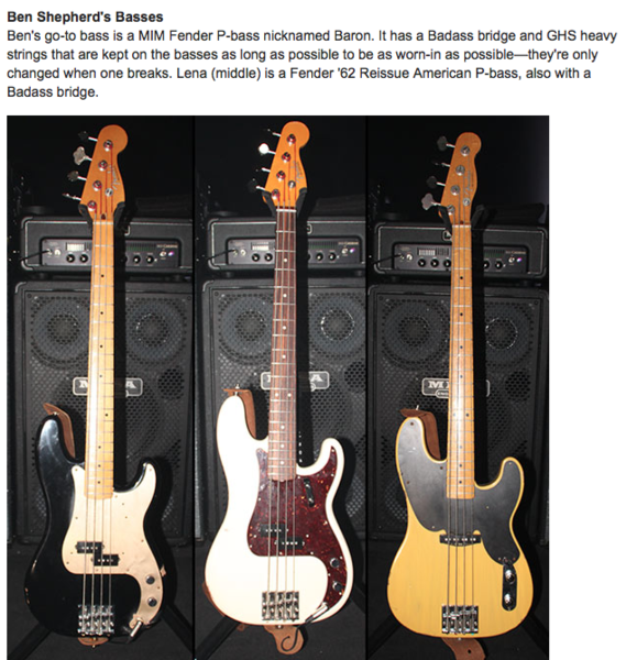 Ben Shepherd's Fender Precision Bass