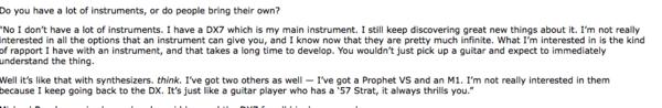 Brian Eno's Yamaha DX7 Synthesizer