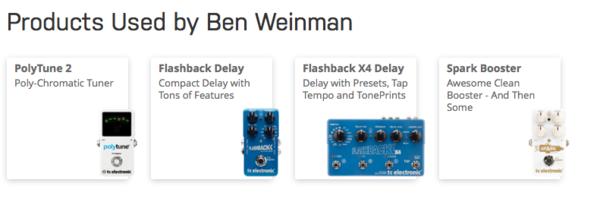 Ben Weinman's TC Electronic Spark Booster