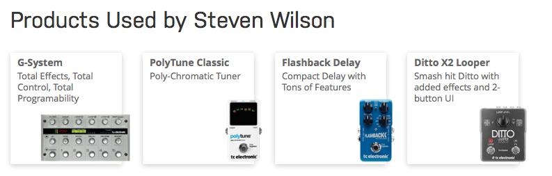 Steven Wilson Equipboard 174