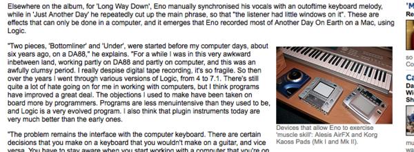 Brian Eno's Logic