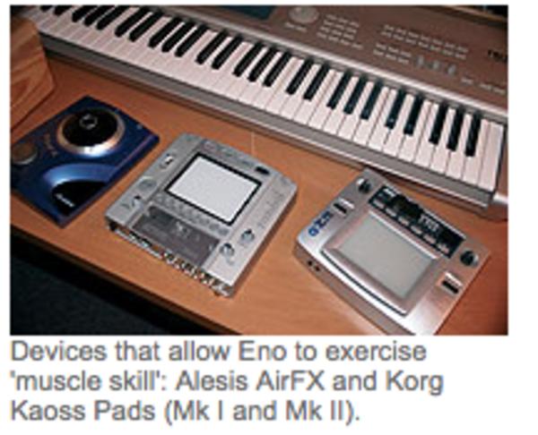 Brian Eno's Korg Kaoss Pad