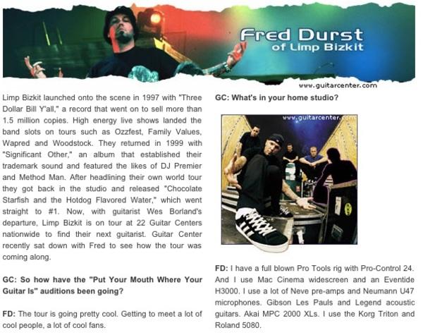 Fred Durst's Korg Triton 61-key Music Workstation