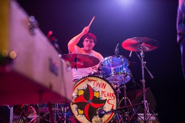 Connor Brodner's Ludwig Vistalite Blue Drumkit