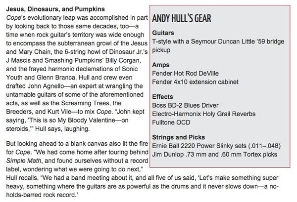 Andy Hull's Fulltone OCD Obsessive Compulsive Drive Overdrive Pedal