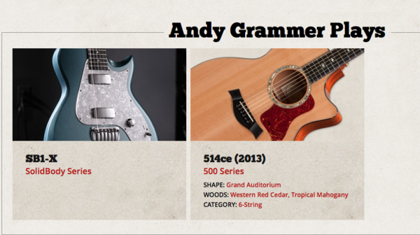 Andy Grammer's Taylor 314CE Acoustic Guitar