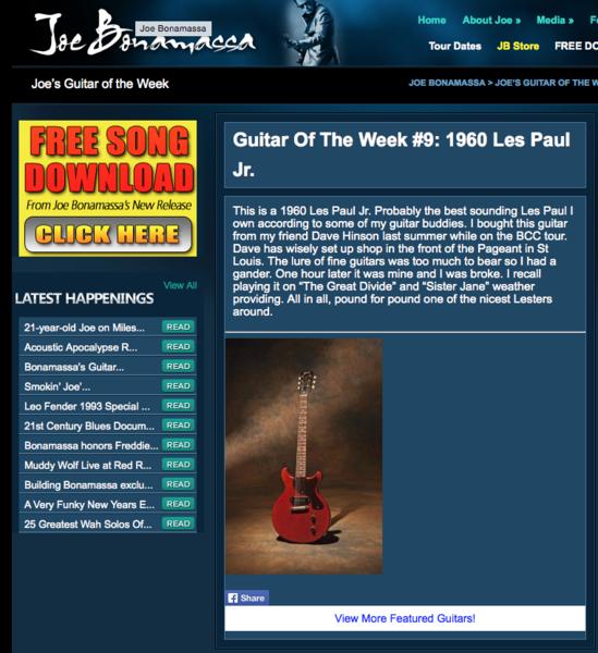 Joe Bonamassa's 1960 Gibson Les Paul Junior Doublecut