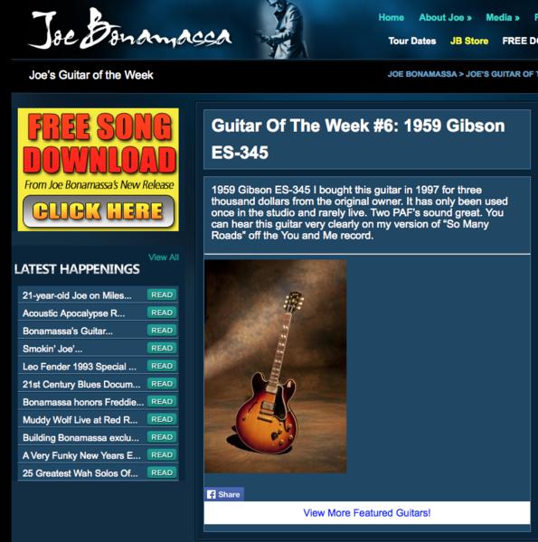 Joe Bonamassa's 1959 Gibson ES-345