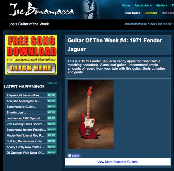 Joe Bonamassa's 1971 Fender Jaguar