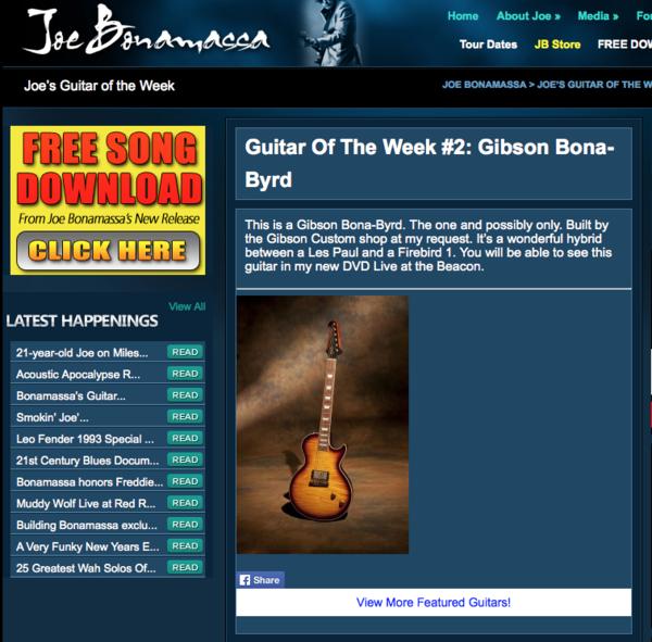 Joe Bonamassa's Gibson Bona-Byrd
