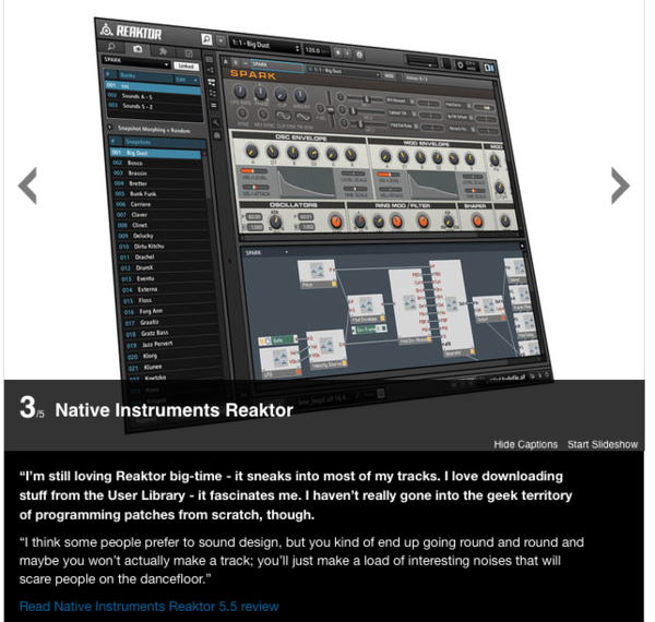Jody Wisternoff's Native Instruments Reaktor Software Synthesizer