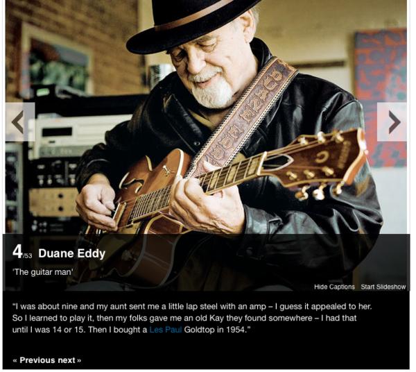 Duane Eddy's Gibson Les Paul Goldtop Electric Guitar