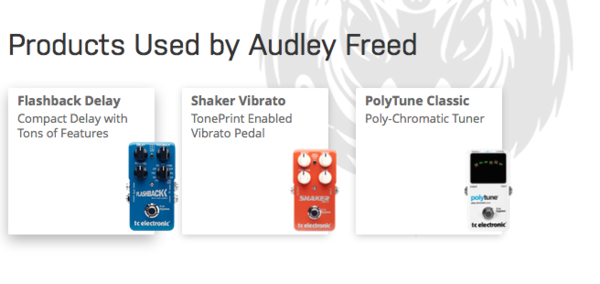 Audley Freed's TC Electronic PolyTune Polyphonic Tuner Pedal