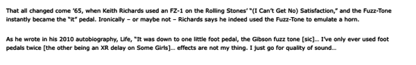 Keith Richards's Maestro Fuzz-Tone