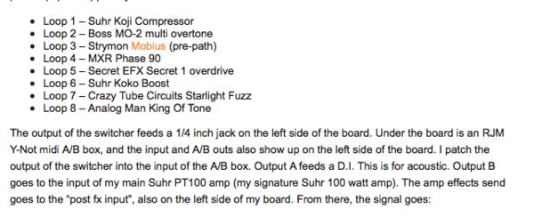 Pete Thorn's Suhr Custom Audio Amplifiers PT100