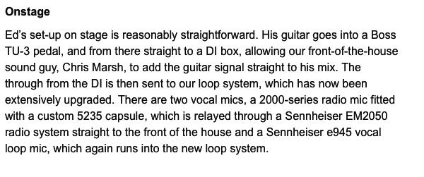 Ed Sheeran's Sennheiser EM2050