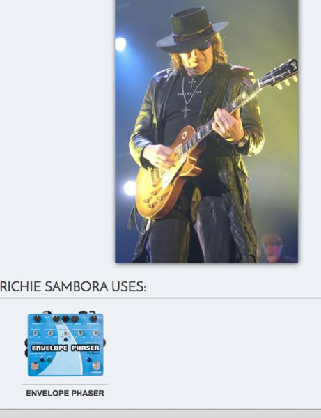 Richie Sambora's Pigtronix EP2 Envelope and Rotary Phaser Pedal