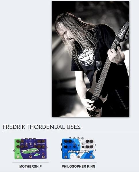 Fredrik Thordendal's Pigtronix Philosopher King Pedal