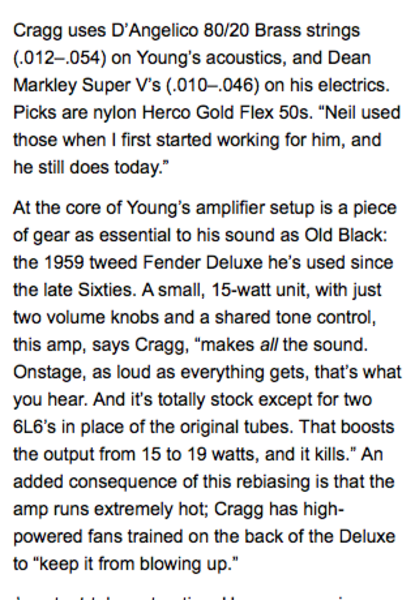 Neil Young's RCA 6L6 Tubes