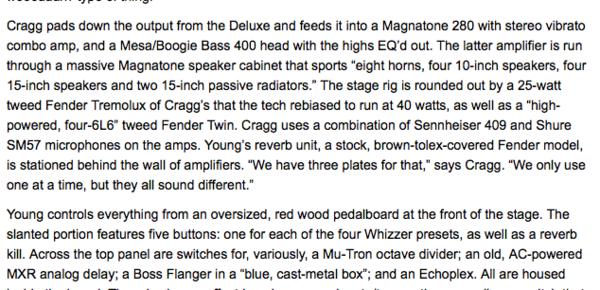 Neil Young's Mesa/Boogie Bass 400+ Amp Head