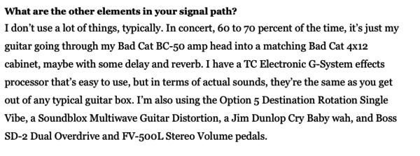 Steven Wilson's Boss FV-500L Volume Pedal - Low Impedance