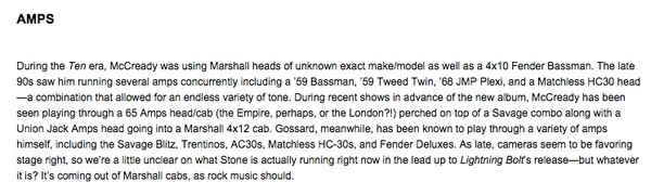 Stone Gossard's Vox AC30 Guitar Combo Amp