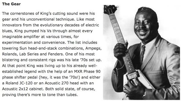 Albert King's Acoustic 270 Amplifier Head