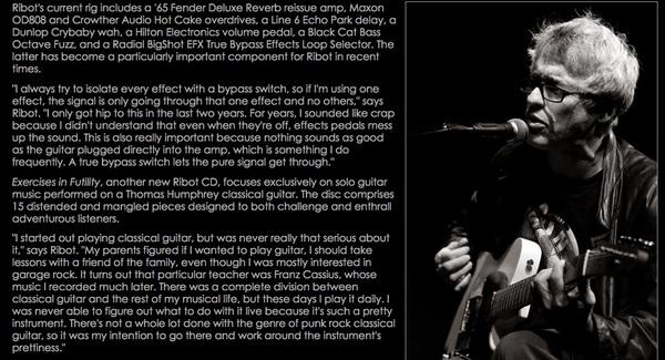 Marc Ribot's Black Cat Pedals Bass Octave Fuzz