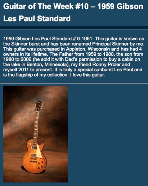 Joe Bonamassa's Gibson Les Paul Standard        (Duplicate)