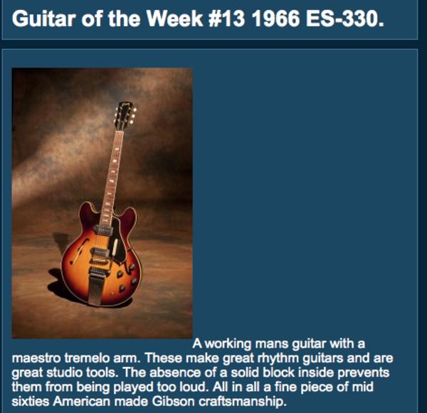 Joe Bonamassa's Gibson ES-330 (Duplicate)