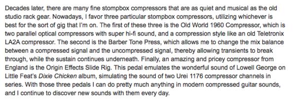 Henry Kaiser's Barber Tone Press Parallel Compressor