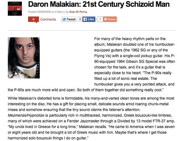 Daron Malakian's 1964 Gibson SG Special
