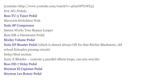 Eric Mardis's Strymon El Capistan dTape Echo Delay Pedal