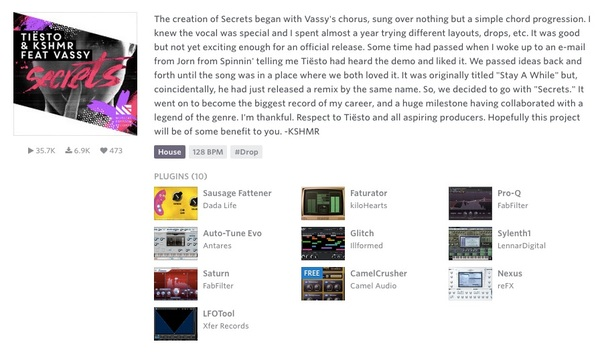 Tiësto's Camel Audio CamelCrusher Distortion Plugin