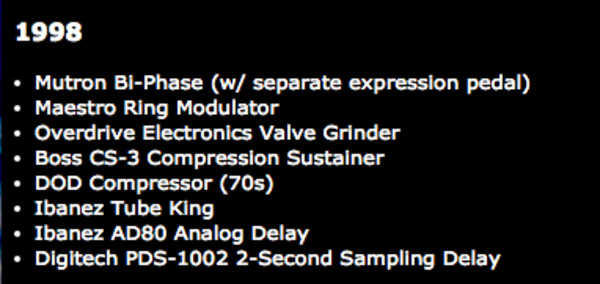 Lee Ranaldo's Boss CS-3 Compression Sustainer