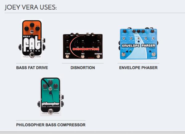 Joey Vera's Pigtronix Philosopher Bass Compressor