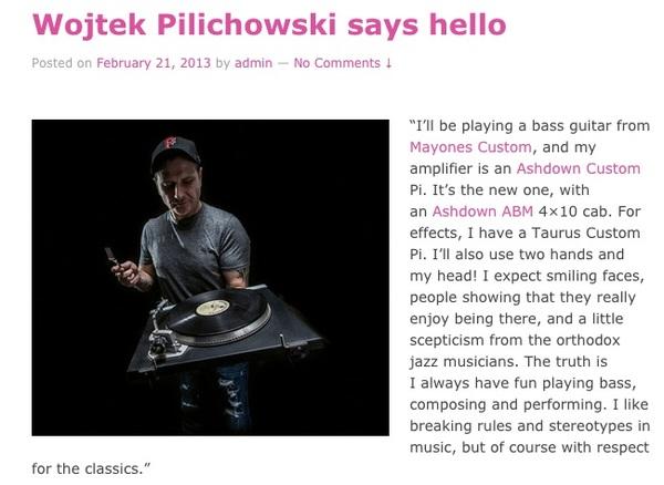 Wojtek Pilichowski's Mayones Wojtek Pilichowski Signature Custom Pi Electric Bass Guitar