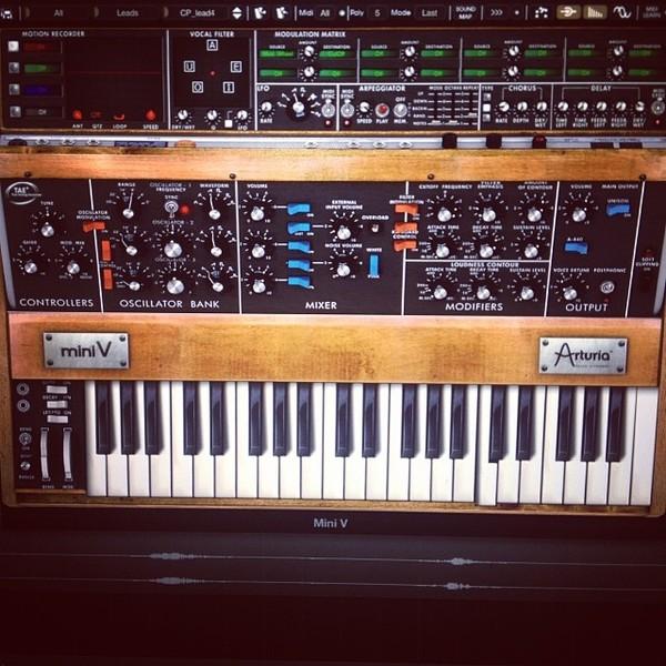 Owl City's Arturia Minimoog Mini V Software Synthesizer