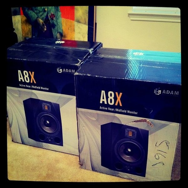 Bro Safari's ADAM Audio A8X Powered Studio Monitor
