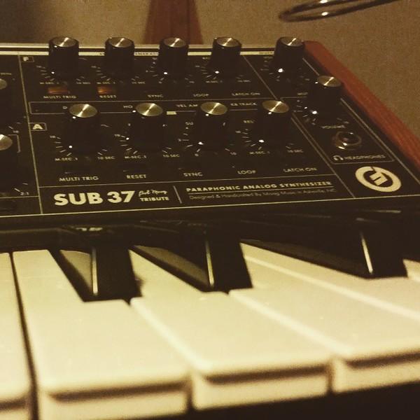 Emancipator's Moog Sub 37 Paraphonic Analog Synthesizer