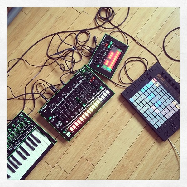 Nick Hook's Roland AIRA SYSTEM-1 Plug-Out Synthesizer