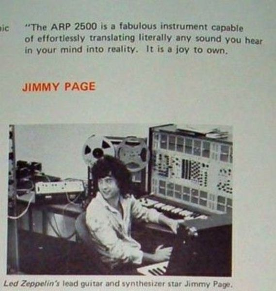 Jimmy Page's ARP 2500