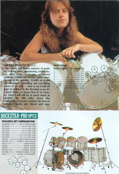 Lars Ulrich's Tama Imperial Star/Rock Star Pro Drum Kit