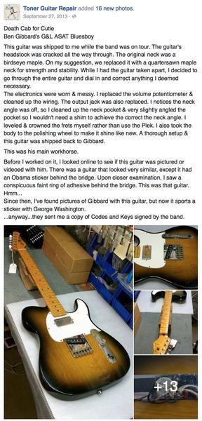 Ben Gibbard's G&L ASAT Bluesboy Electric Guitar