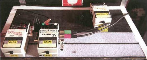Nicky Wire's Boss TU-3 Chromatic Tuner