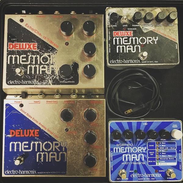Ian Peres's Electro-Harmonix Stereo Memory Man with Hazarai