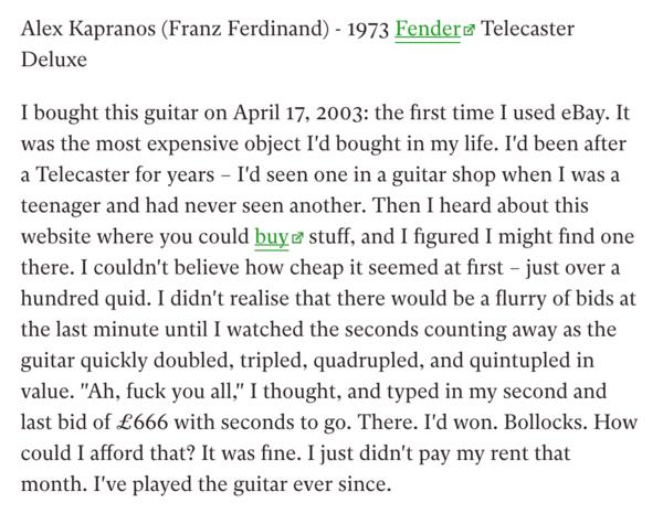 Alex Kapranos's Fender Telecaster Deluxe  (Duplicate)