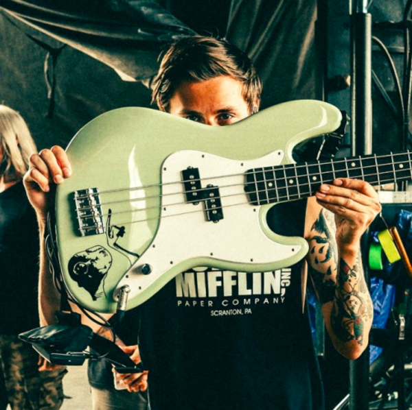 Fil Thorpe-Evans's Fender Mark Hoppus Jazz Bass